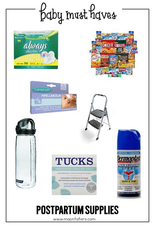 Postpartum Supplies For Mom