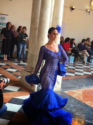 Vestido flamenca azul klein