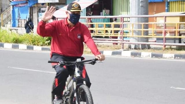 Foto: Wako Mahyeldi. Bersepeda, Trend di Masa Pandemi.