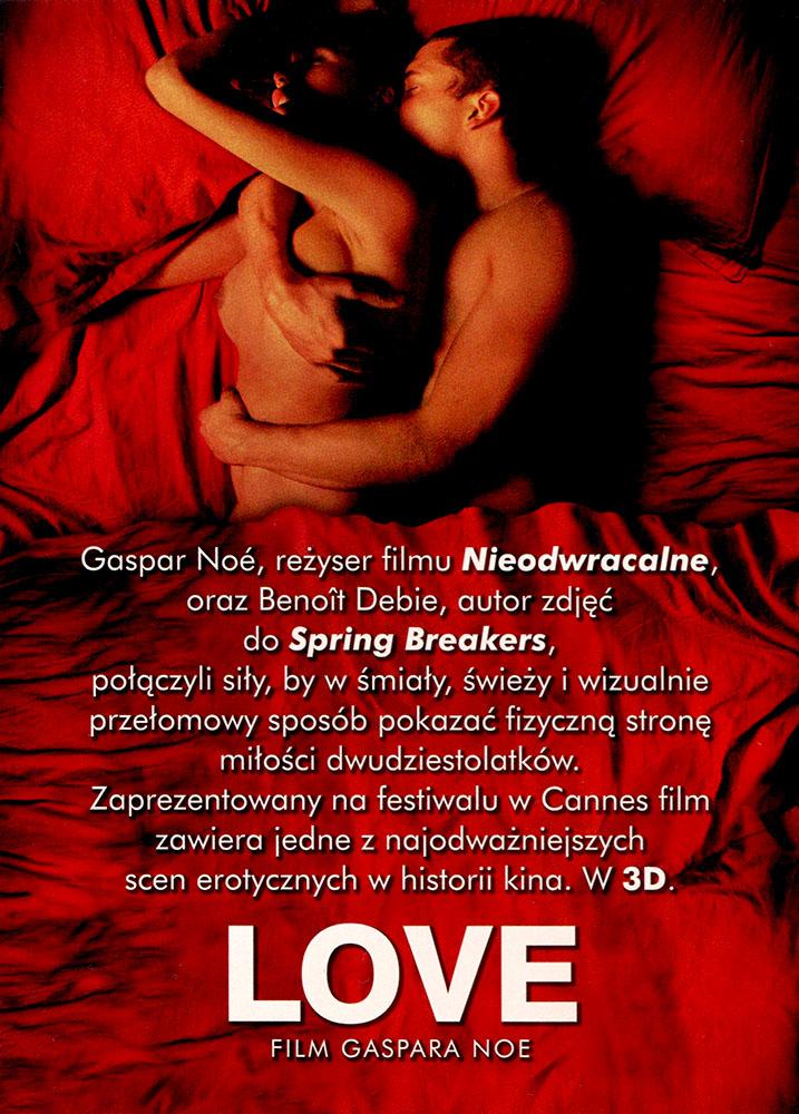 Ulotka filmu 'Love (tył)'