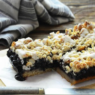 Blueberry Almond Streusel Bars