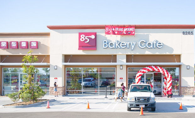 photo of the outside of 85C Bakery Cafe at Mira Mesa