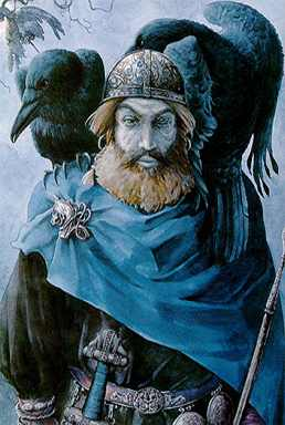 Odin With His Ravens, Asatru Gods And Heroes