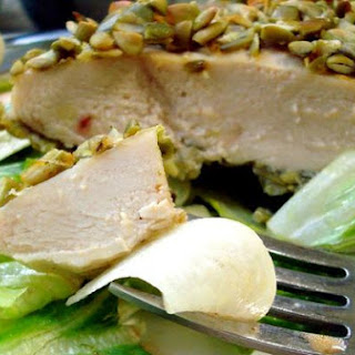 Pepita Crusted Chicken Salad With Sweet Adobo Vinaigrette