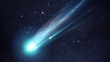 ilustração de um cometa