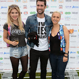 WWW.ENTSIMAGES.COM -       Ashley James, Matt Johnson and Leigh-Catherine Salway (Foxy TV's Psychic Medium)    at        Pup Aid at Primrose Hill, London September 6th 2014Puppy Parade and fun dog show to raise awareness of the UK's cruel puppy farming trade. Pup Aid, the anti-puppy farming campaign started by TV Vet Marc Abraham, are calling on all animal lovers to contact their MP to support the debate on the sale of puppies and kittens in pet shops. Puppies & Celebrities Return To Fun Dog Show Fighting Cruel Puppy Farming Industry.                                              Photo Mobis Photos/OIC 0203 174 1069