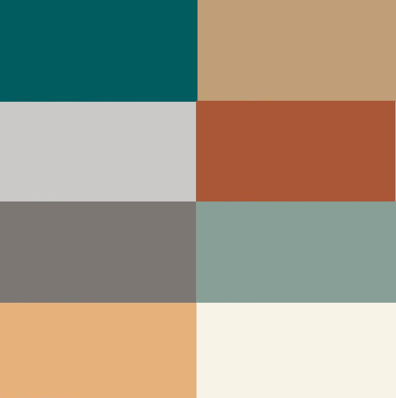 Rustic modern color scheme - Modern home color palette ...