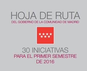 30 iniciativas de la Comunidad de Madrid para el primer semestre de 2016