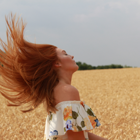 sass by Kelly Moore - People Portraits of Women ( hair, beauty, nature, wheat, model )