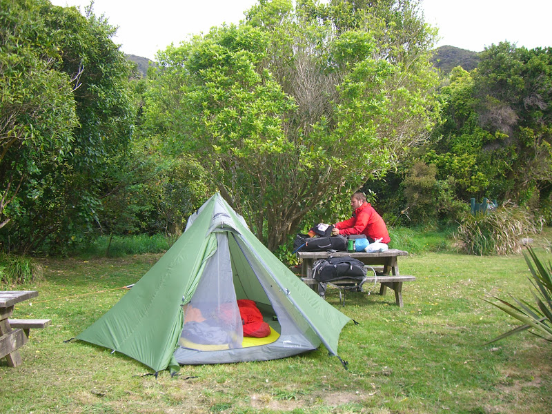 Letzte Übernachtungim Abel Tasman Nationalpark