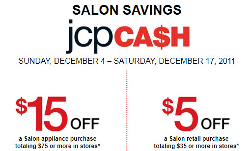 JCPenney Coupon on Salon Appliance