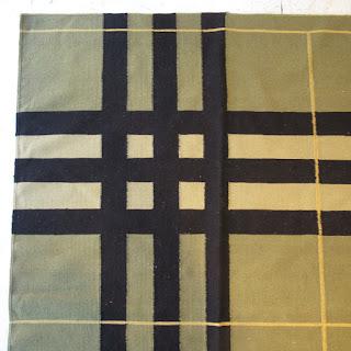 Oversized Plaid Wool Area Rug 4