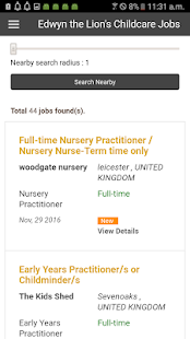 Childcare Jobs Listings- screenshot thumbnail