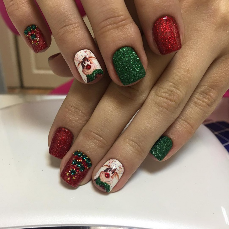 AWESOME NEW YEAR NAILS DESIGNS FOR WINTER NAILS 2018 - Styles Art