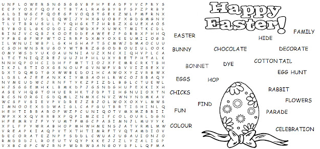 Easter Coloring Pages And Word Searches Easter Egg Coloring Page