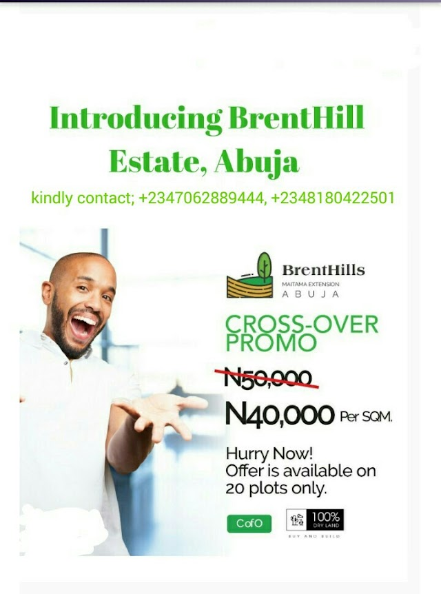 BRENTHILLS ESTATE, MAITAMA EXTENSION, ABUJA (LAND FOR SALE)