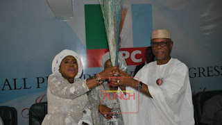 Wife of Ex-PDP National Chairman, Maryam Ali, Joins APC.