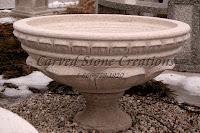 Carved Granite Planter, H14 x D38