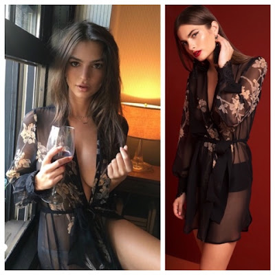 Emily Ratajkowski in Stone Cold Fox Kiku Robe
