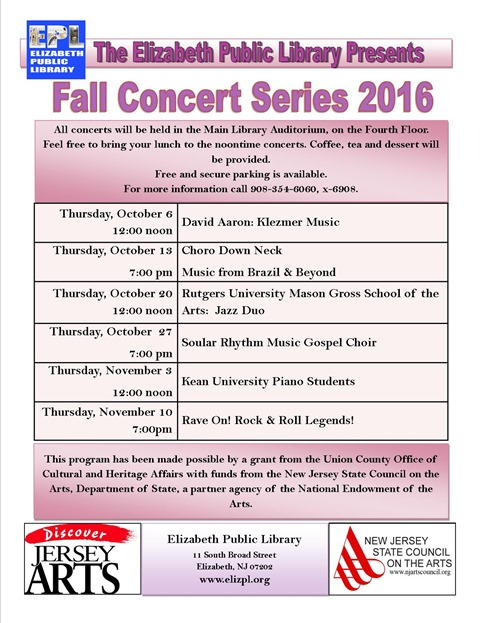 fall concert series 2016 flyer