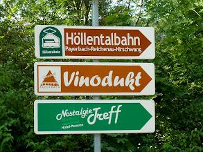 Photo: Los geht's: Die Höllentalbahn brauchen wir heute nicht. http://de.wikipedia.org/wiki/H%C3%B6llentalbahn_(Nieder%C3%B6sterreich) Für kreative Namen bin ich immer zu haben! http://www.vinodukt.at/