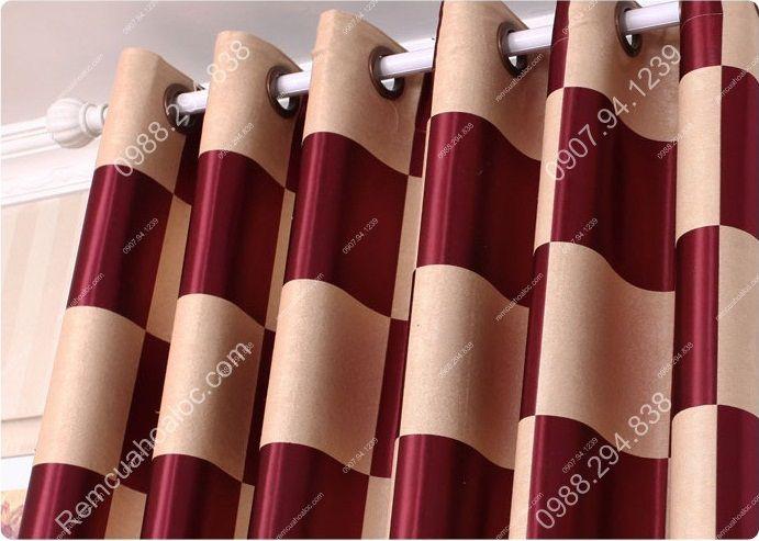 Rèm cửa cao cấp tại hà nội họa tiết bàn cờ vua 6