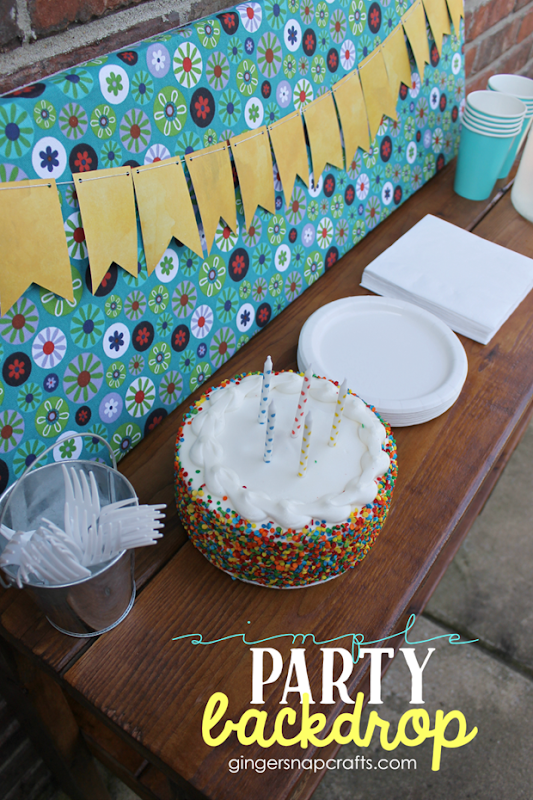 800 Simple Party Backdrop #gingersnapcrafts #makeitfuncrafts #sponsored