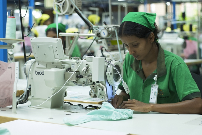 Operator in sewing operation
