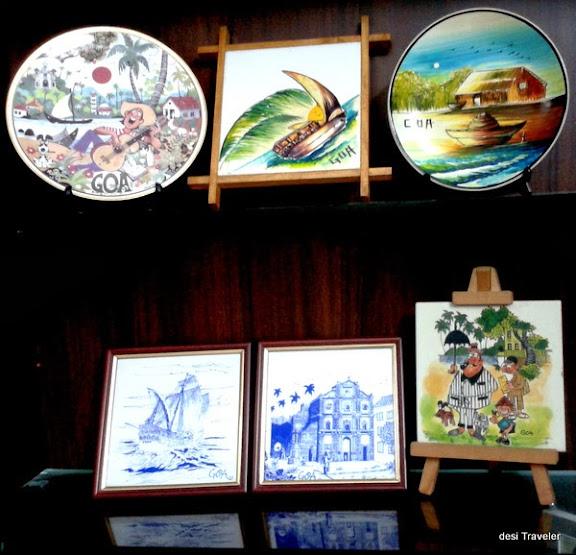 Painted Tiles Shop in Goa
