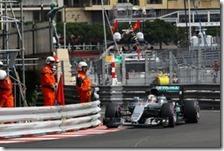 Lewis Hamilton nelle prove libere del gran premio di Monaco 2016