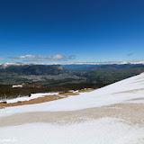 Vista do topo do monte nevado, Reserva Nacional Coihayque, Chile