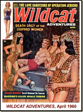WILDCAT ADVENTURES, April 1960. Leopard Women cover WM2