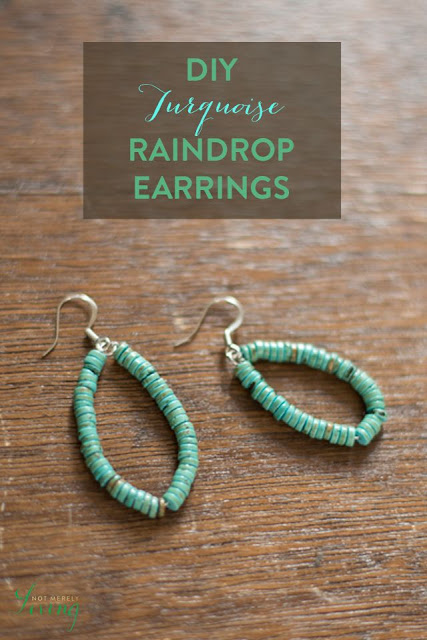 Turquoise Teardrop Earrings by NotMerelyLiving.com