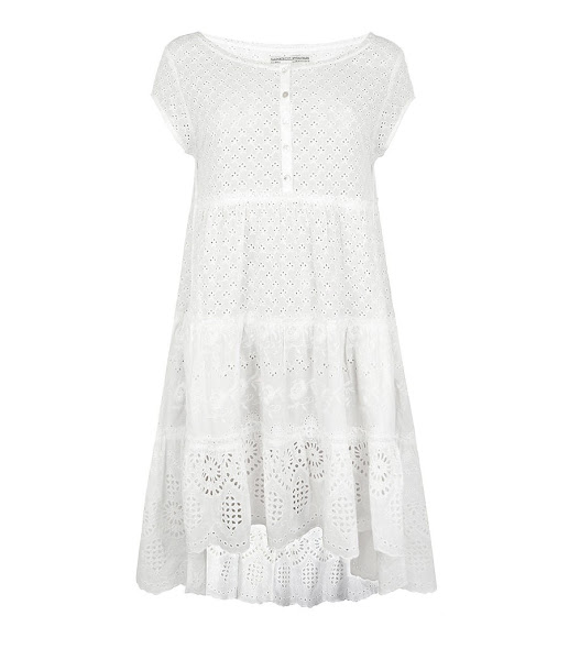 Photo: Tatting Dress UK> http://bit.ly/Kgcji1 US> http://bit.ly/L1IfeW  The Tatting Dress is constructed from vintage inspired broderie anglais cotton which has been garment washed for a soft hand feel. It features subtly deconstructed oversized shapes for an easy silhouette and has a signature AllSaints twist with key details such as external French seaming and rusted effect metal buttons.