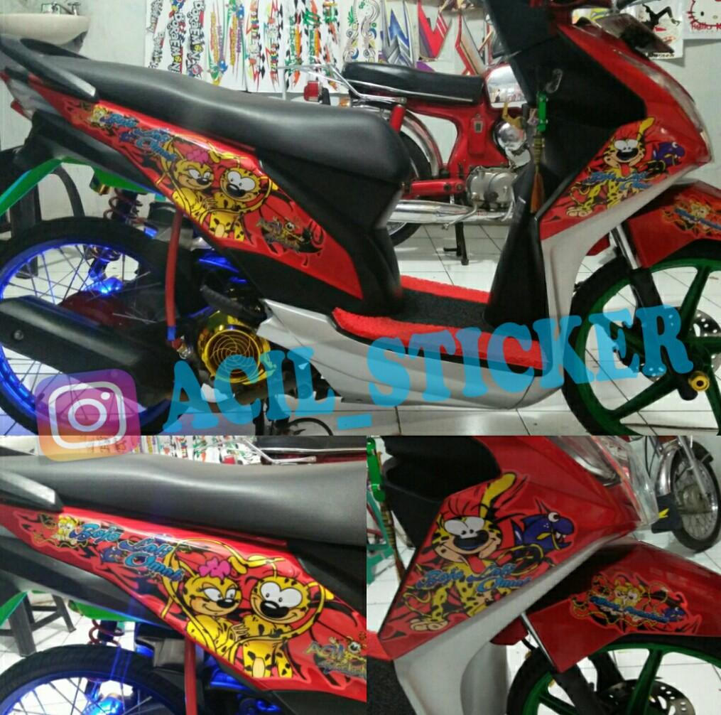 Acil Racing Sticker Cilacap Beat Fi Custom Striping Karakter Bebas Desain