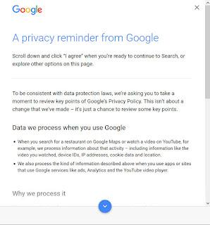 Googleアカウントのプライバシーポリシー