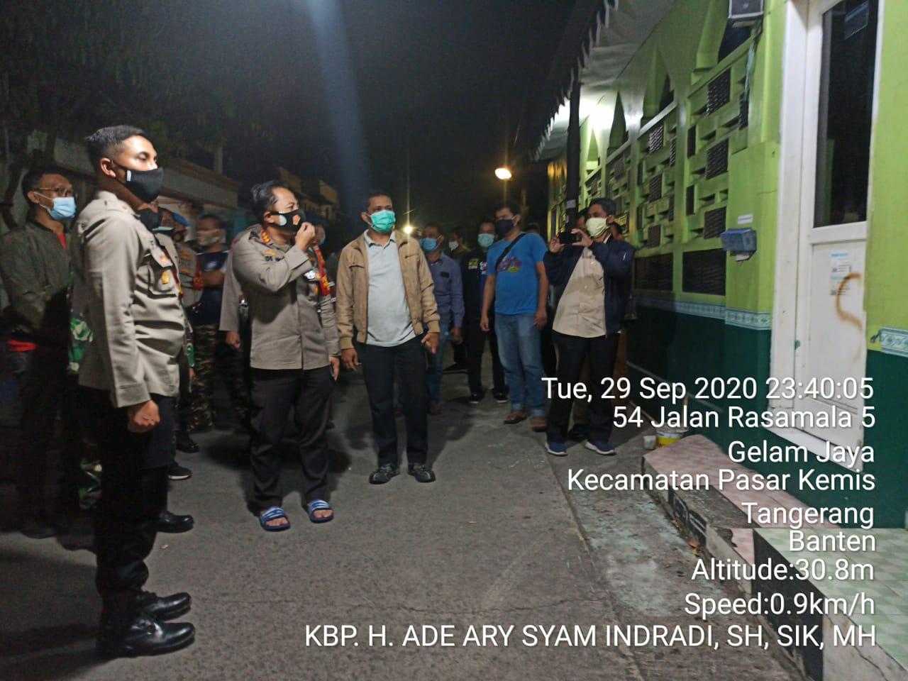 Dalam Waktu Singkat, Polresta Tangerang Berhasil Ringkus Pelaku corat coret ditempat ibadah