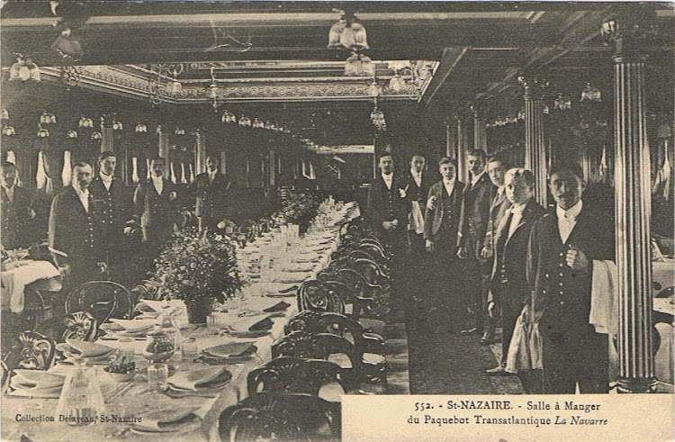 Comedor de primera clase del LA NAVARRE. Colección Arturo Paniagua.jpg