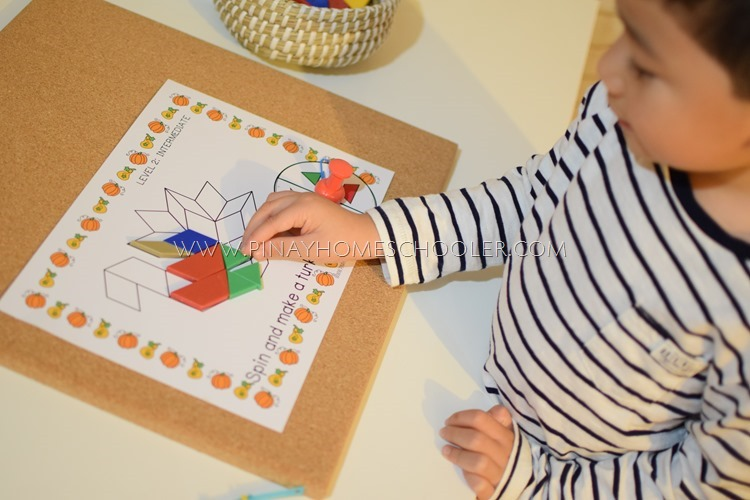 Thanksgiving Themed Pattern Blocks Game