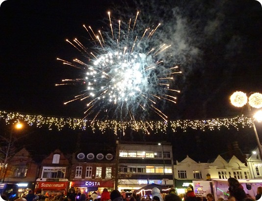 Firework display following switch-on