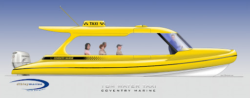 Dibley designed 10 metre Water Taxi for Coventry Marine