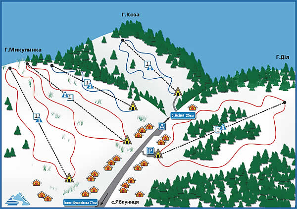 ski lifts Yablunytsa