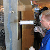 Foundation crack injection stops water leaks into a basement. On contact with water the polyurethane resin slowly expands and fills the crack. The polyurethane expands up to 30x and fills the basement wall crack from top to bottom and all the way to the outside.  Once complete the crack will not leak.