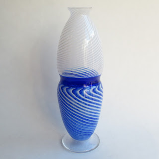 Church & Maple Art Glass Vase
