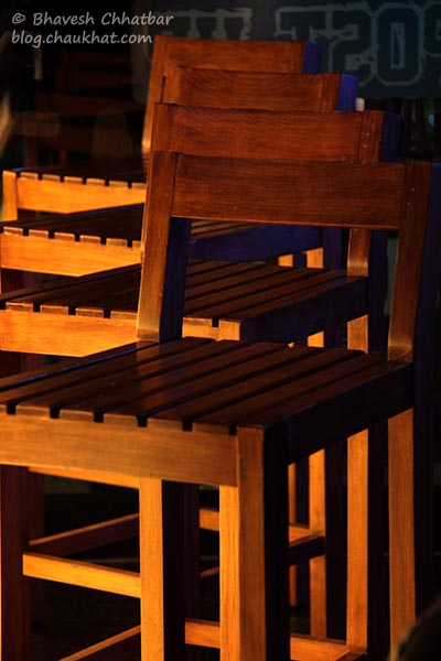 Bar chairs of Toss Sports Lounge Koregaon Park