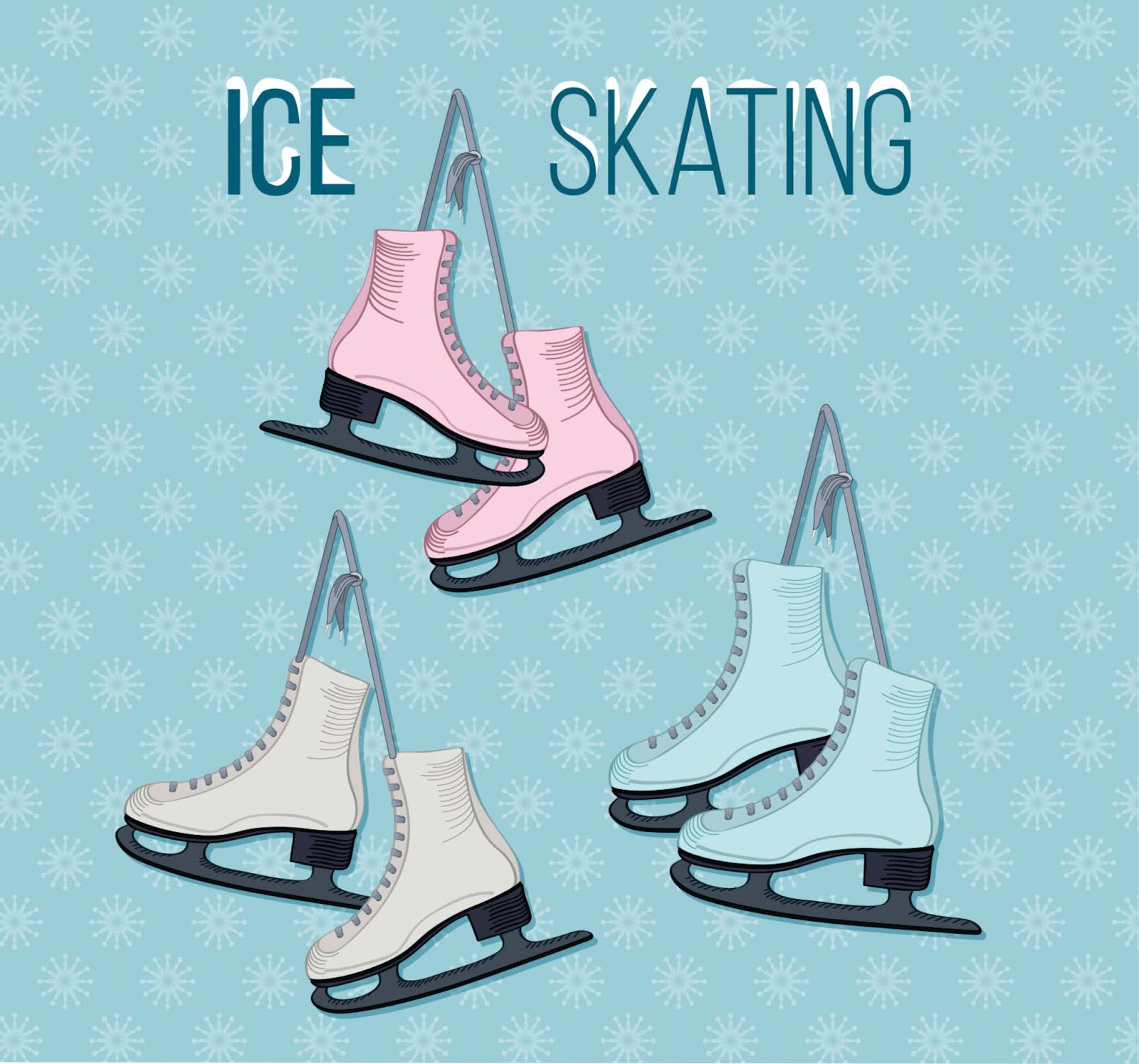 Ice Skating Set Free Download Vector CDR, AI, EPS and PNG Formats