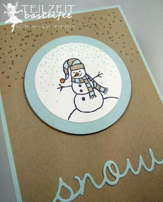 Stampin' Up! - In{k}spire_me #228, Christmas Special, Snow, Schnee, Sparkly Seosons, SchneemannbearbeitenBildunterschrift löschen Mag ich
