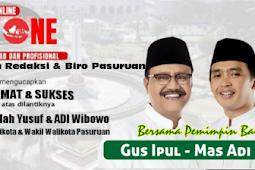 Iklan, Redaksi Dan Biro Pasuruan Lintasone.com mengucapkan Selamat Dan Sukses Atas Dilantiknya Gus Ipul & Mas Adi