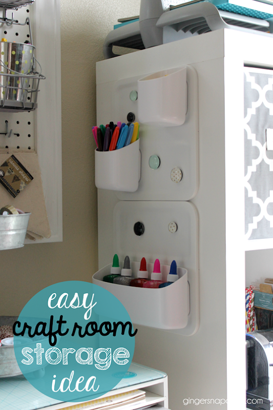 easy craft room storage idea