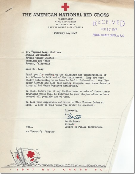 Red Cross Letter 14 Feb 1947